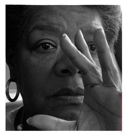 Maya Angelou, poet, writer, wise woman.
