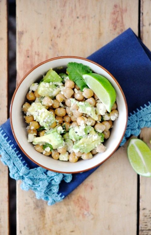 Avocado Chickpea Salad | Mind, body and soul | Pinterest
