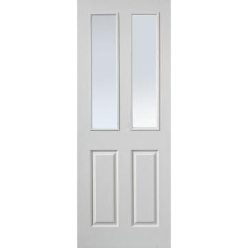 Jbk canterbury white primed 2 pane fire door 1 2 hour for 1 hour fire rated glass door