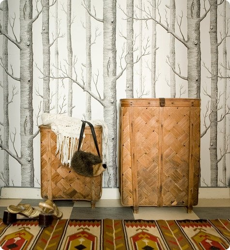 Woods wallpaper cole and son remodel pinterest for Tree wallpaper for walls