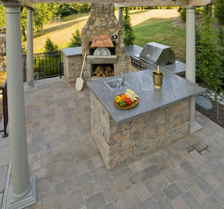 Pizza oven in outdoor kitchen pizza ovens fire pits pinterest - Outdoor kitchen designs with pizza oven ...