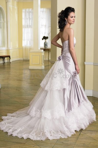 Make the satin a little bit more darker purple wedding for White wedding dress with purple accents