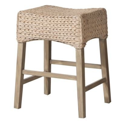 Andres 24 Seagrass Counter Saddle Stool Grey Wash
