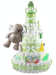 Mighty Majestic Elephant #Baby Shower Diaper Cake  http://storkbabygiftbaskets.com/mighty-majestic-diaper-cake.html