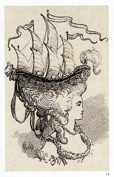 BIG hair circa late 18th century
