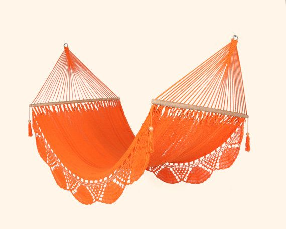{Orange Hammock, Handwoven Cotton} I would be on this every day.