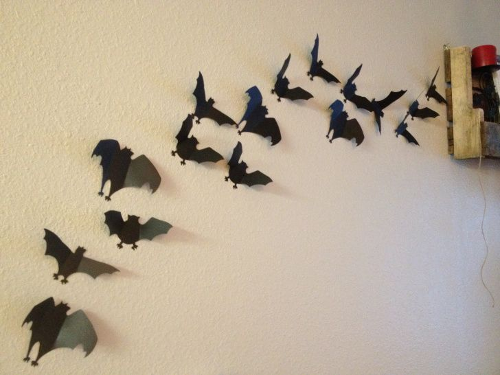 Pinterest Halloween Wall Decor : Halloween decorations bat wall i can make that