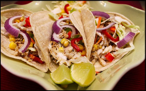 Southwest Tilapia Fish Tacos. My husband made for dinner tonight and ...