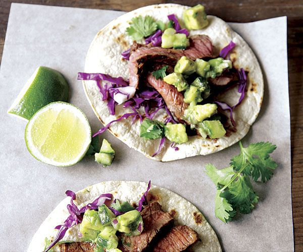 Steak Tacos With Cucumber-Avocado Salsa Recipe (Fine Cooking)