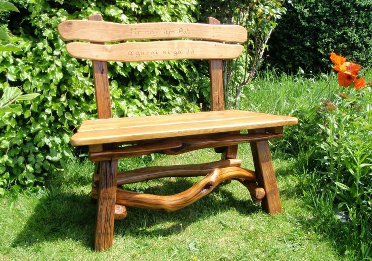 Rustic Memorial Bench Garden Pinterest