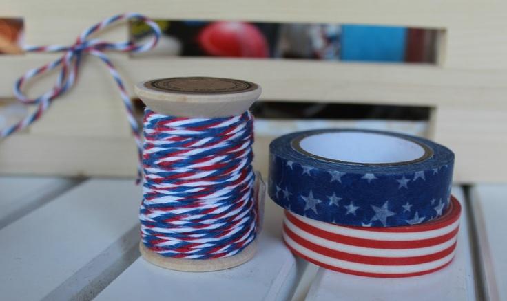 4th of July Washi Tape Silverware