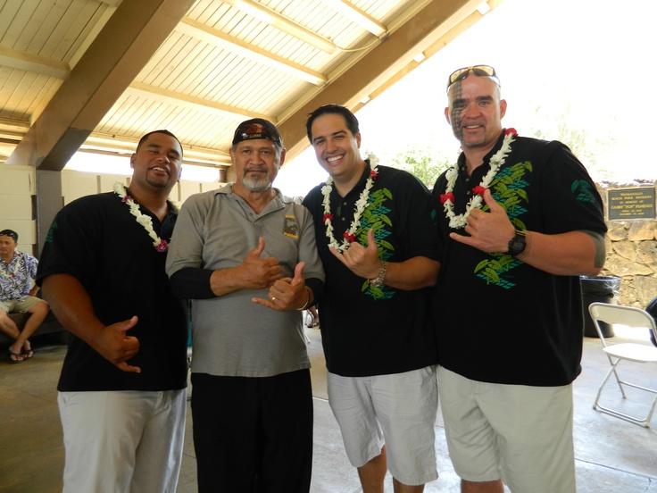 Nā Hōkū Hanohano Award Winning group Hiʻikua with Cyril Pahinui at Gabby Pahinui Waimanalo Kanikapila 2012