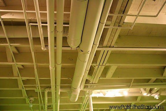 painting the basement ceiling basement rehab pinterest