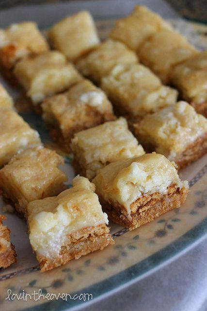 White Chocolate S'mores Gooey Cake Bars. Yellow cke mix, 1 egg, 1 stck ...