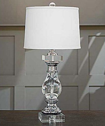 193 contemporary crystal and chrome baluster table lamp rad 405 193. Black Bedroom Furniture Sets. Home Design Ideas