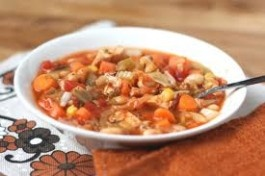 Italian Chicken and Vegetable Soup with Extra Virgin Olive Oil Recipee