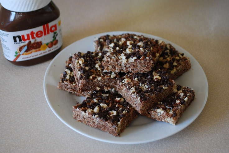 Nutella Rice Krispie Treats | rice krispies | Pinterest