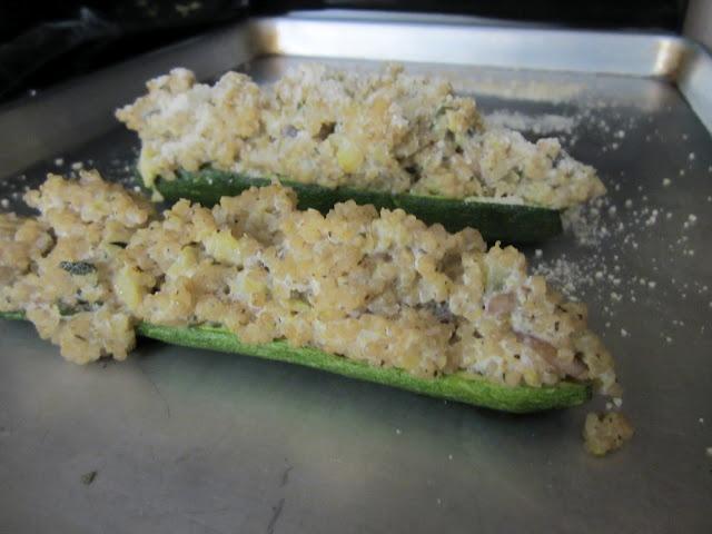 The Vegetable Collaboration: Quinoa & Mushroom Stuffed Zucchini