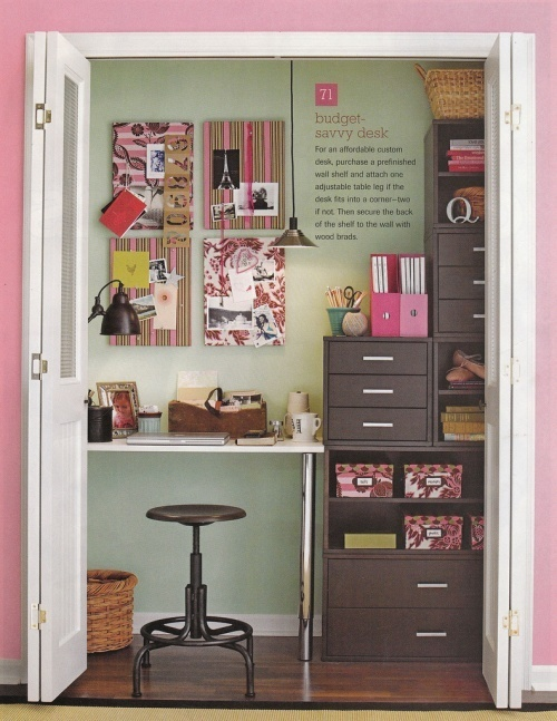 holly cute office space in a closet diy pinterest