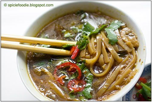 spicy green curry thai soup (sub with veggie fish sauce), by Spicie ...