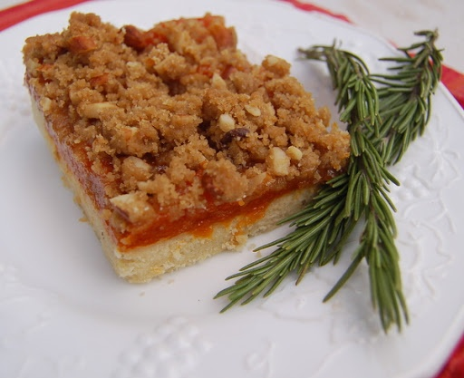 Apricot Rosemary Shortbread Bars (not wild about rosemary or apricot ...