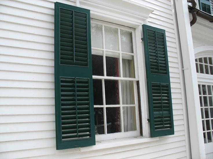 Exterior shutter styles shutters pinterest - Different styles of exterior shutters ...