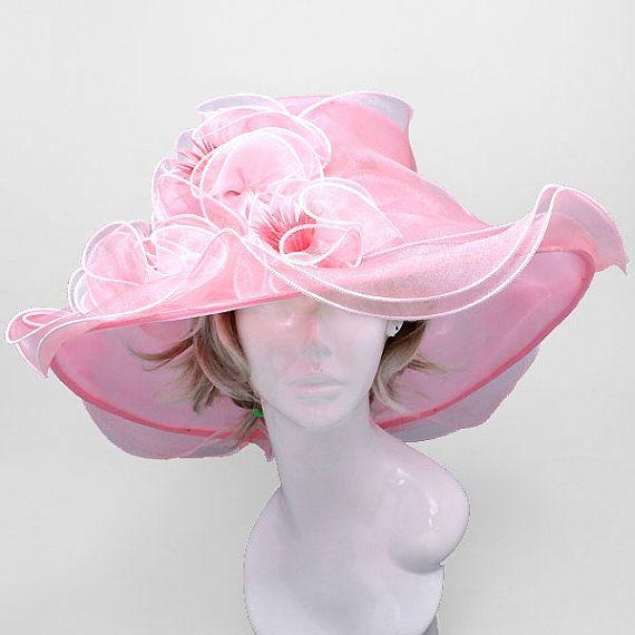 Pink white wedding dress hat kentucky by treasureboutique2015