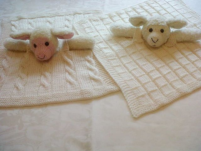Knitting Pattern Snuggle Blanket : Baa Lamb Comfort Cuddle Blanket pattern by Pat Alinejad