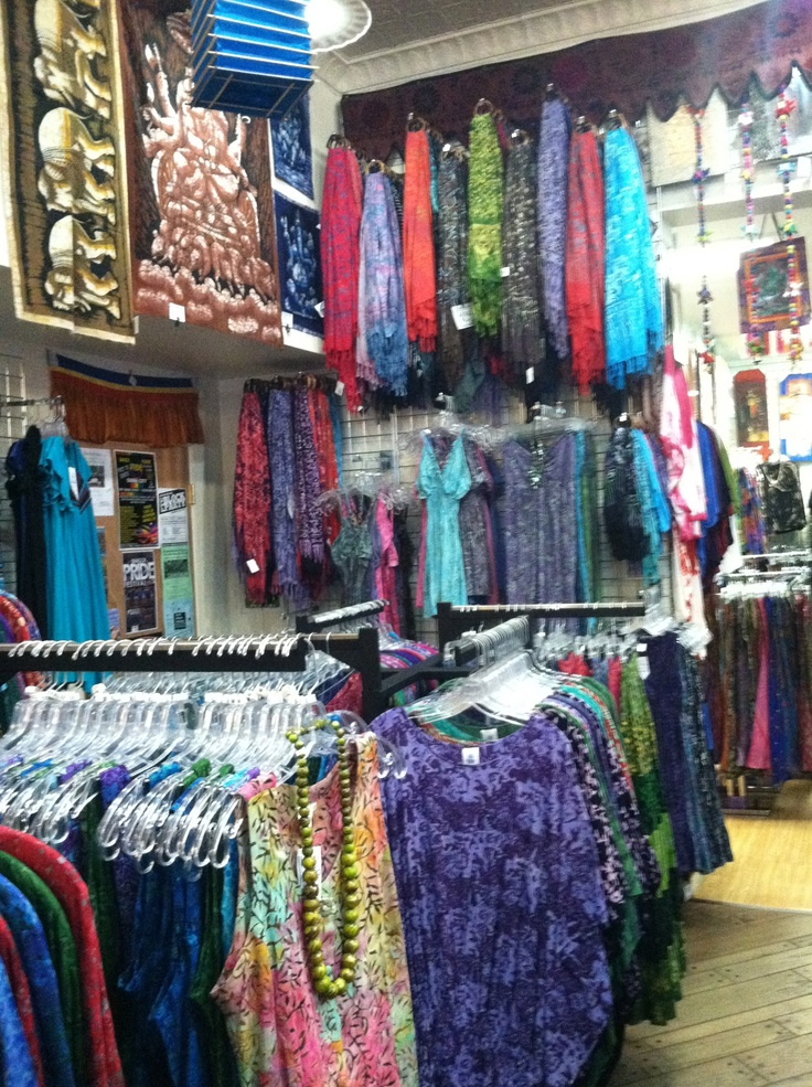 great selection of batik clothing in our Bangor, Maine store