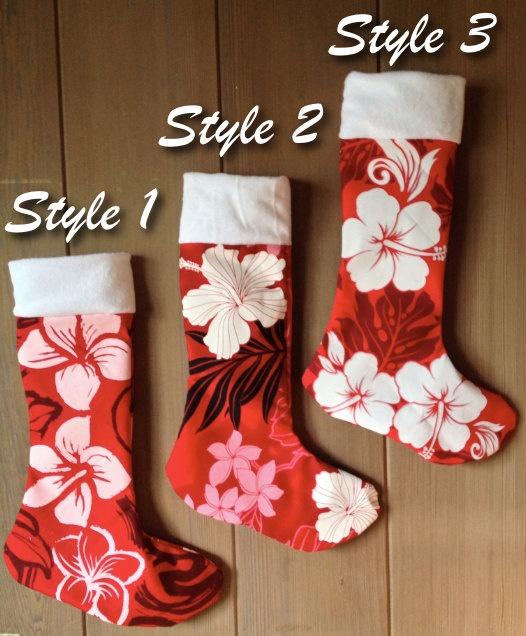 Personalized Hawaiian Christmas Stockings