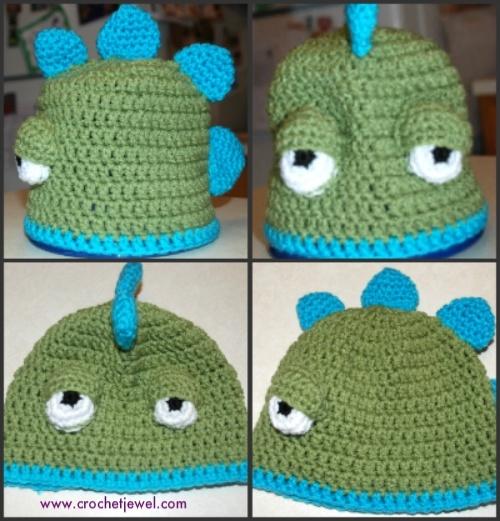 Dinosaur hat Halloween Crochet Pinterest