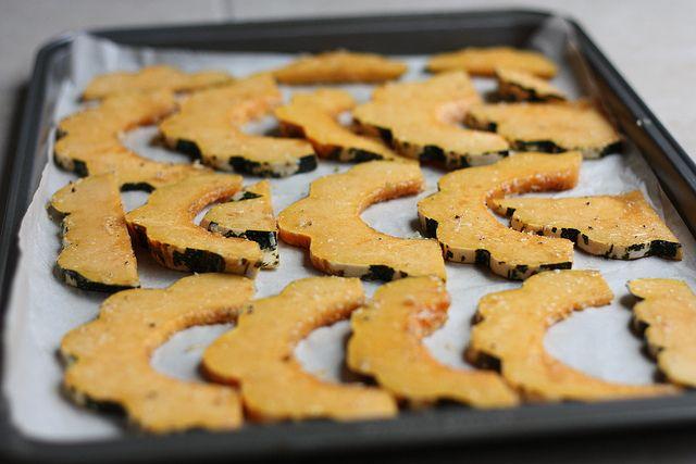 Parmesan Roasted Acorn Squash | yum | Pinterest