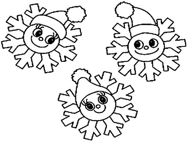Christmas snowflake free coloring pages
