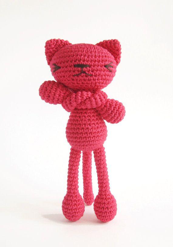 Crochet Amigurumi Stuffed Toy Tutorial : CROCHET PATTERN - Amigurumi Cat - Fun long-legged cat ...