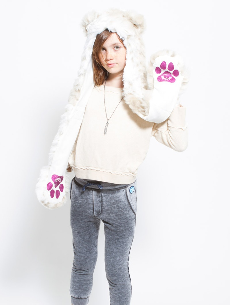 What's Your Spirit Animal? ..... SNOW LEOPARD (Faux Fur) ..... Traits: Silent > Mindful > Independent .Find out more about the #Snow #Leopard #Spirit #Animal at: https://www.spirithoods.com/kids/girls/snowleopardglitter/1017/# $69 #Gifts #Fashion #SpiritHood #SpiritHoods #Hoodie #FauxFur #Paws #Scarf #Kids #Glitter #Girls #ProBlue