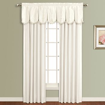 United curtain co anna scalloped window treatments kohl s
