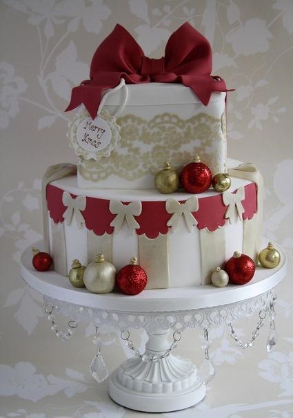 Christmas Cake Cute Cakes Pinterest