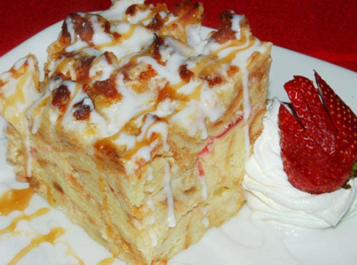 white chocolate bread pudding | BREAD PUDDING | Pinterest