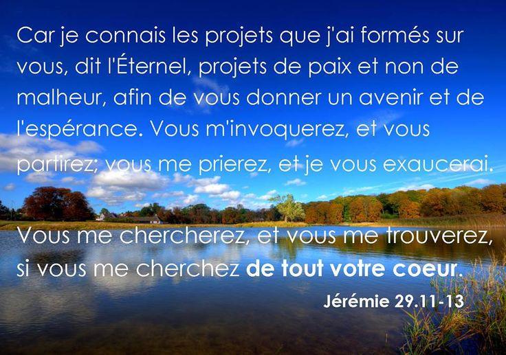 Jeremie 29v11-13   Versets bibliques   Pinterest