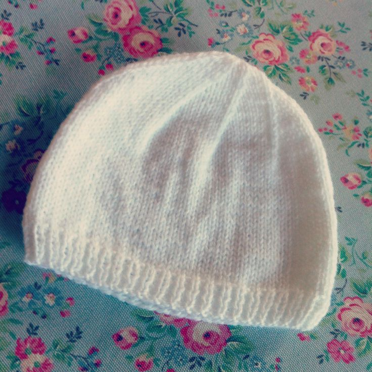 Knitting A Hat For A Baby : Simple knit baby hat stuff pinterest