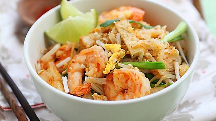 Shrimp Pad Thai On The Lighter Side Recipe