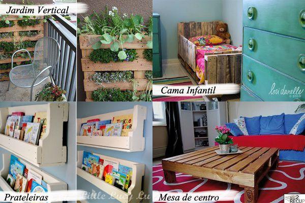 Paletes e suas 1001 utilidades, decoração fácil, barata e sustentável