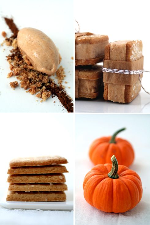 Pumpkin and Gingerbread Ice-cream Sandwiches... looks amazing