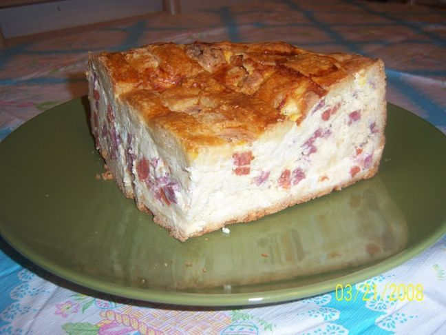 Pizza Rustica, it's amazing, I just ate some!! Sort of like a quiche ...