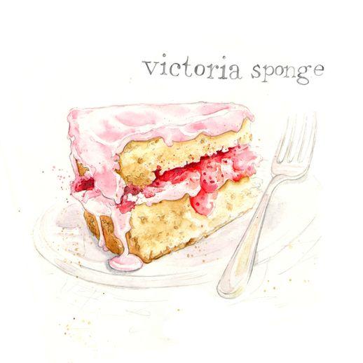 victoria sponge | www.amyholliday.co.uk | Food Art & Illustrations ...