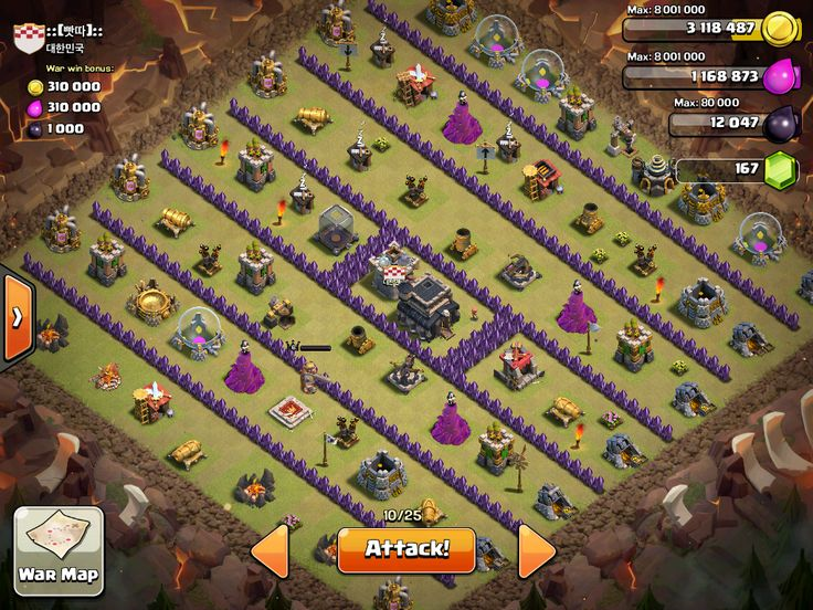 clash of clans base municipio livello 7
