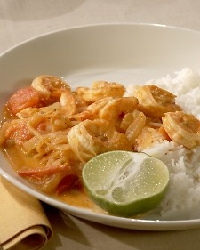 Curried Shrimp - Serve this brothy dish in shallow bowls over steamed ...