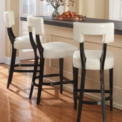 Abby Leather Bar Stool : I want 2 of these, not sure of color yet, for ...