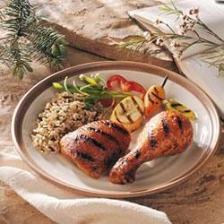 Triple-Hot Chicken- Grilled Chicken Drumsticks basted with a garlic ...