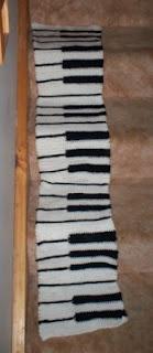 Cats-Rockin-Crochet Fibre Artist.: Piano Scarf Made With A Crochet
